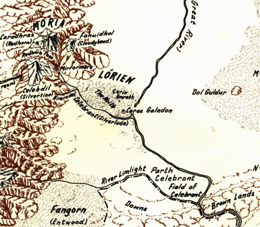 Maps Of Lothlorien And Vicinity